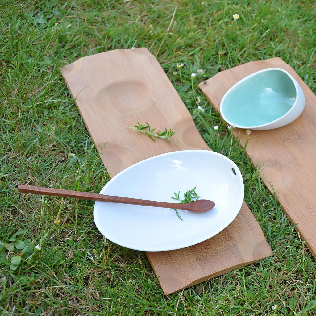 Cookplay Jomon porcelánová miska L zelená 18x14x9cm