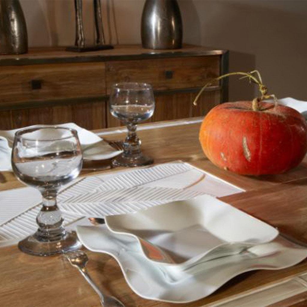 Jacques Pergay Scarf soup plate 20,5x20,5cm