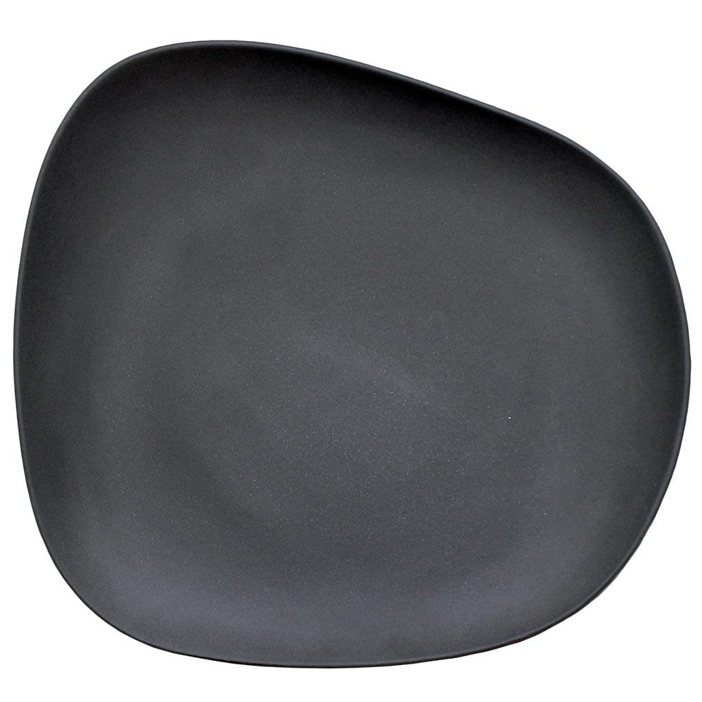 Cookplay Yayoi mělký talíř černý 26x24.5x4cm