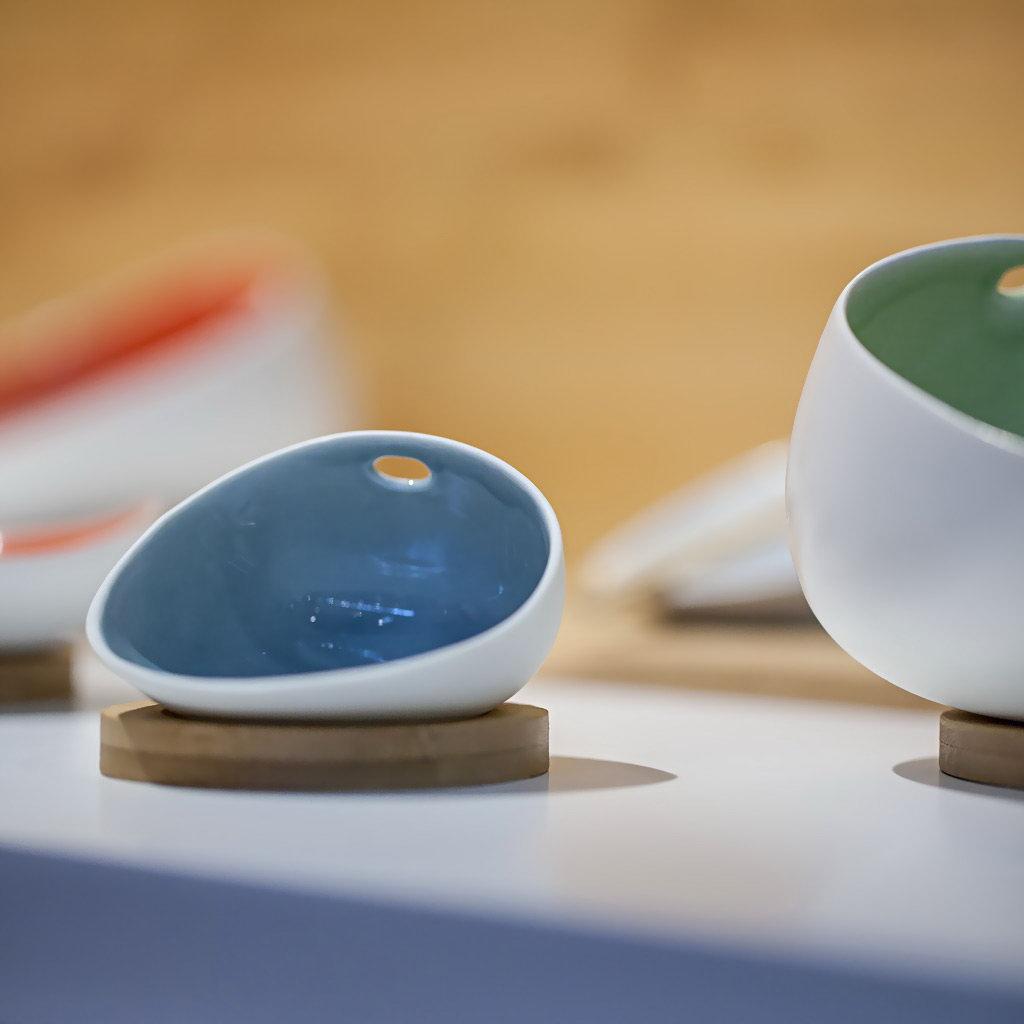 Cookplay Jomon porcelánová miska L modrá 18x14x9cm