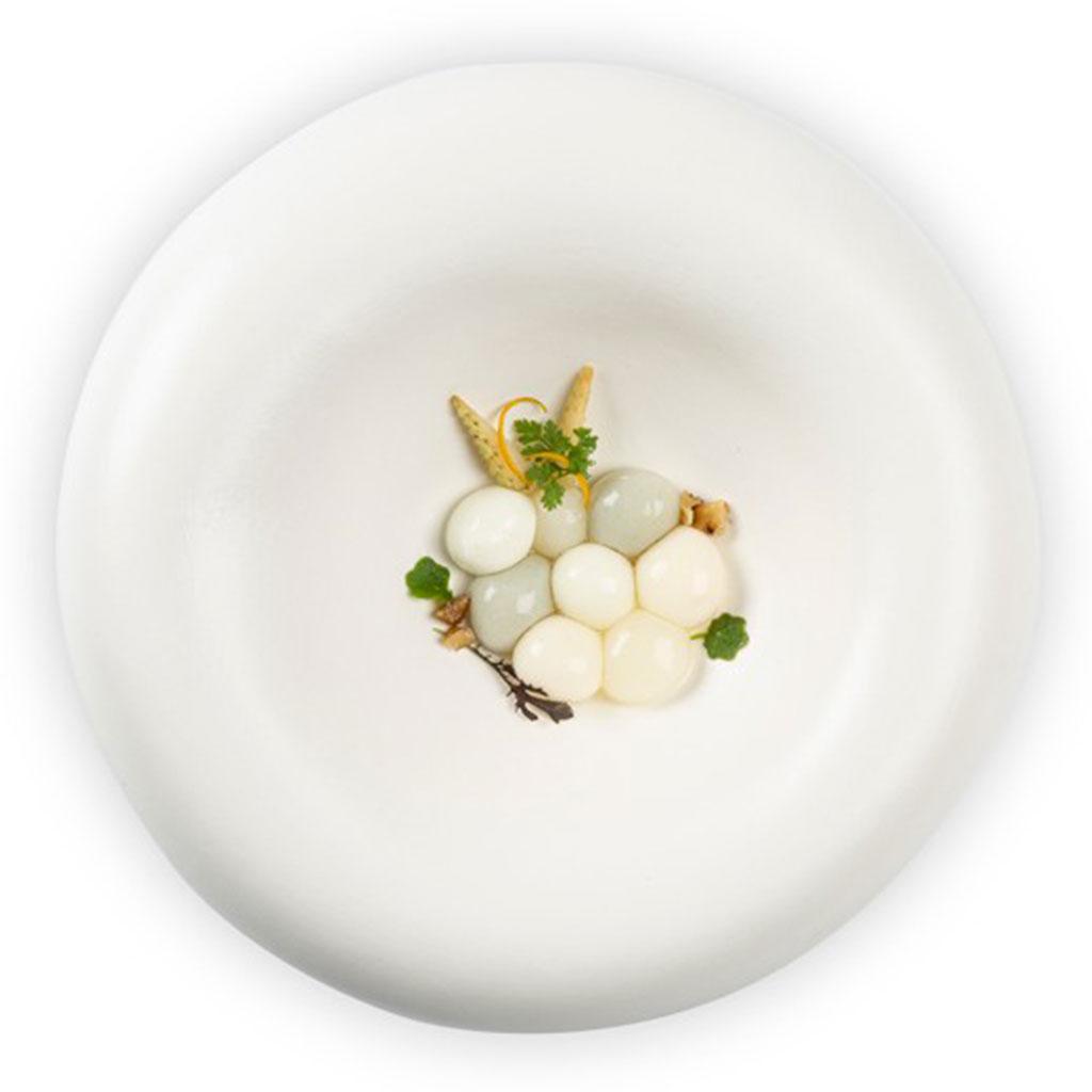 100% Chef Dune XL Plate Matte White