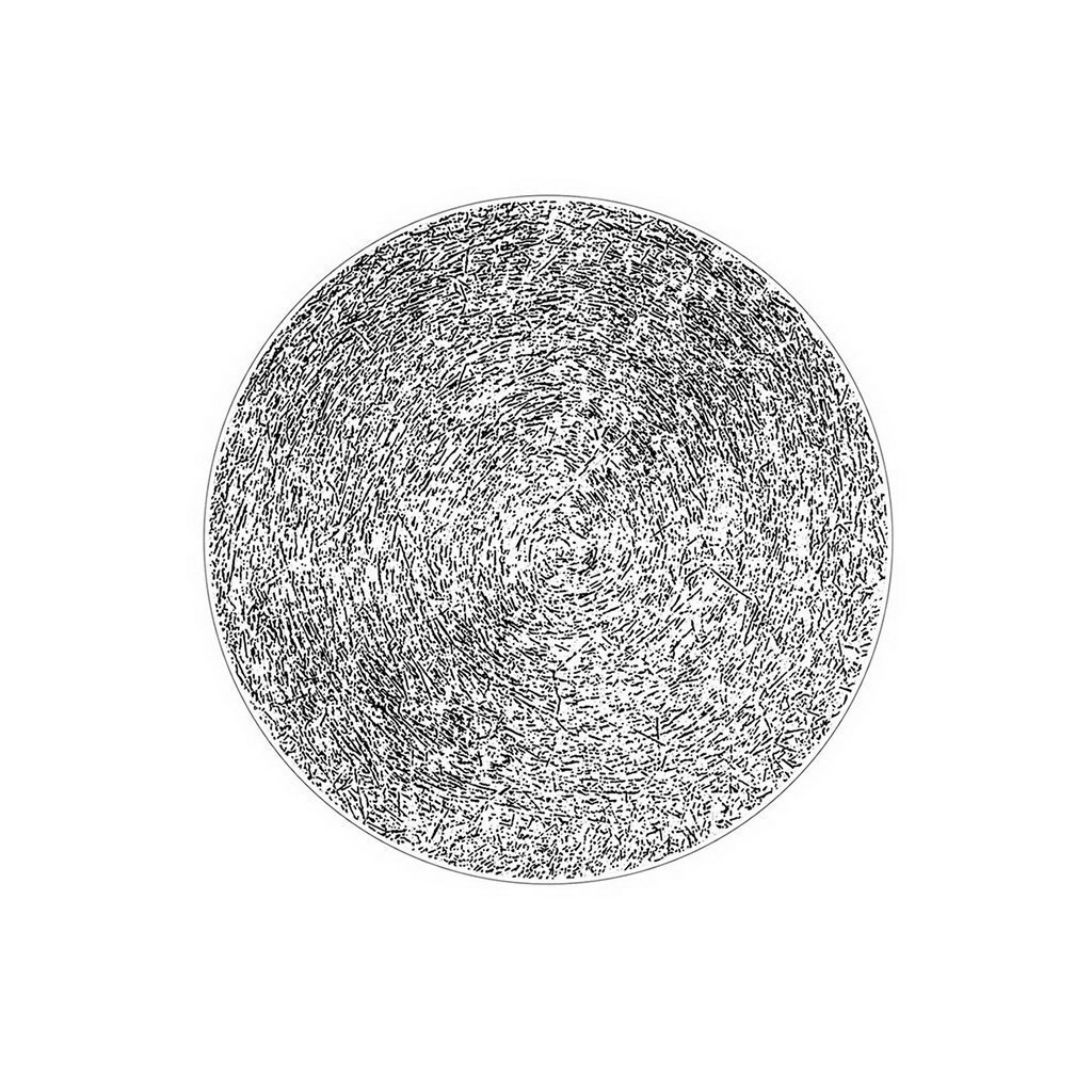 Figgjo Verde Gras Negative černý talíř ø17cm
