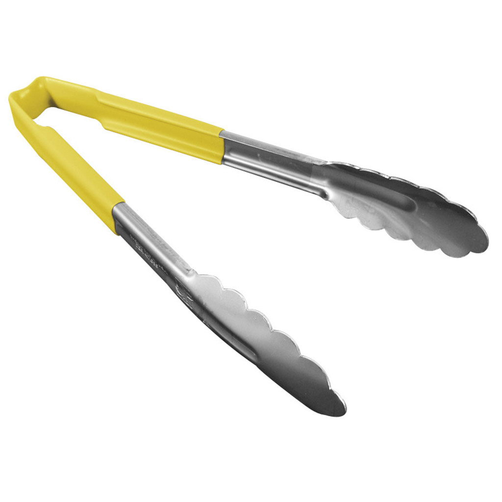 Vollrath 4780950 Kool-Touch® Tongs Scalloped Yellow 24,1cm