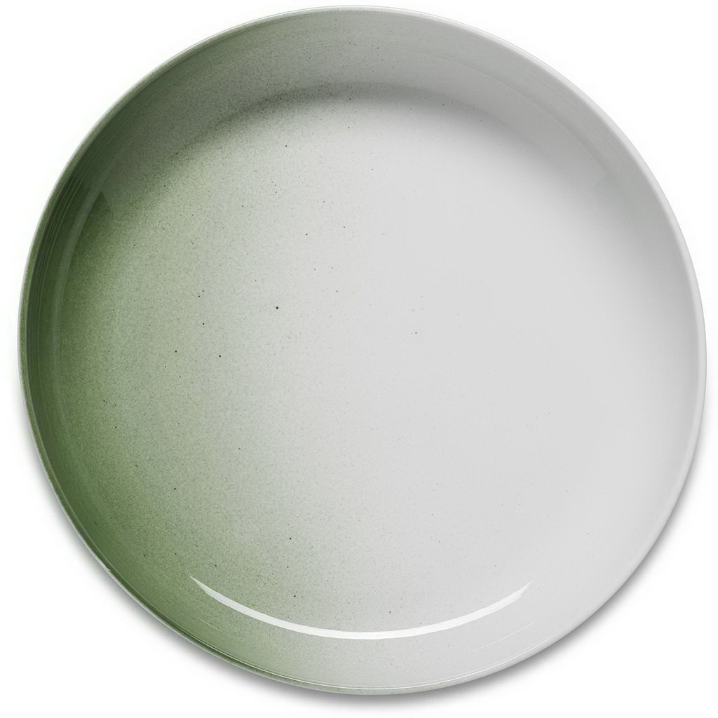 Figgjo Klassik tác/podnos zelený s vysokým okrajem ø40cm