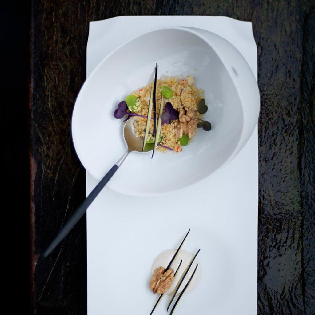 Cookplay Jomon porcelánová miska L bílá 18x14x9cm