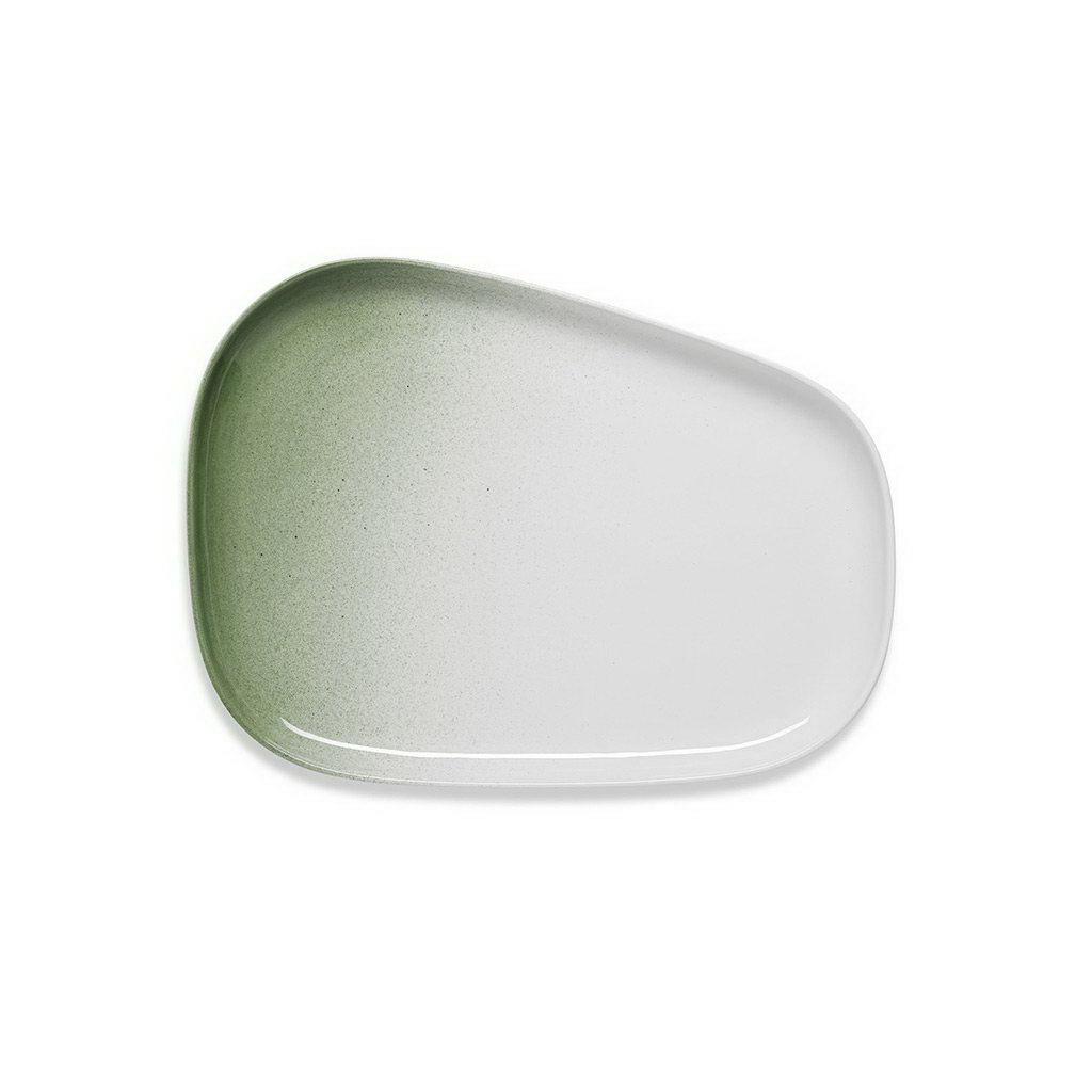 Figgjo Fri zelený tác s vysokým okrajem 30x23cm