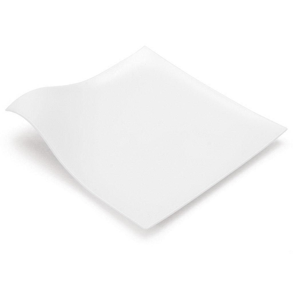100% Chef plochý degustační talíř (bílý) 12,7x12,7x1,5cm