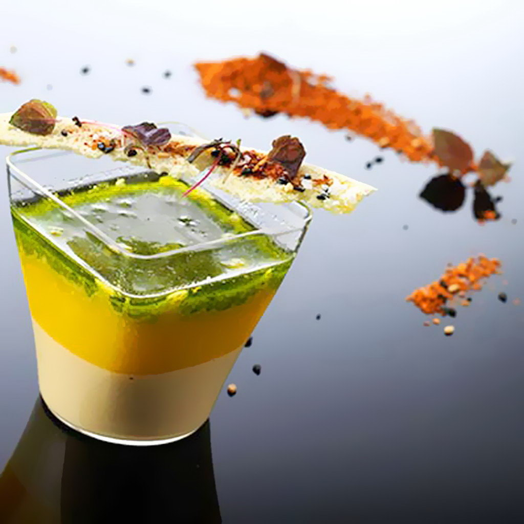 100% Chef sklenice 90ml HOLA (průhledná) 5.1x5.1cm